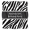 Zebra - Personalized Birthday Party Tags - 20 ct