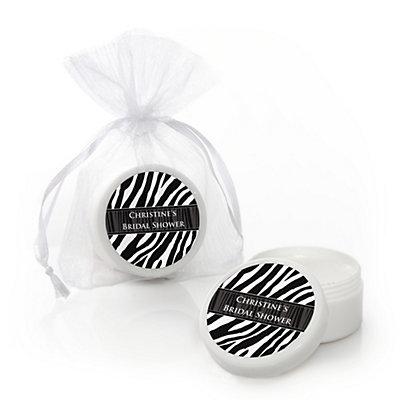 Zebra - Personalized Bridal Shower Lip Balm Favors...