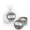Zebra - Personalized Everyday Party Candle Tin Favors