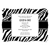 Zebra - Personalized Everyday Party Invitations