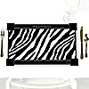 Zebra - Personalized Everyday Party Placemats