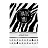 Zebra - Personalized Everyday Party Thank You Cards