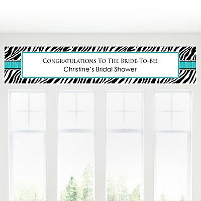 ... Aqua - Personalized Bridal Shower Banners  BigDotOfHappiness.com