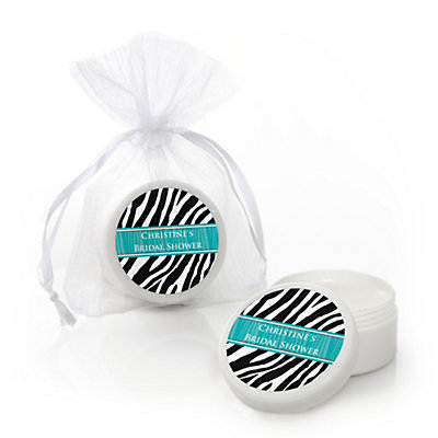 zebra aqua personalized bridal