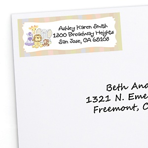 Zoo Crew - Zoo Animals Personalized Baby Shower Return Address Labels - 30 ct