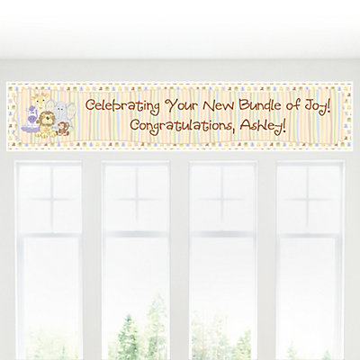 Zoo animals Baby Shower sign