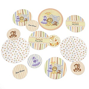 Zoo Crew - Personalized Baby Shower Table Confetti - 27 Count
