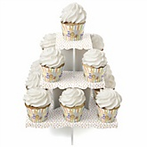 Zoo Crew - Baby Shower Cupcake Stand & 13 Cupcake Wrappers