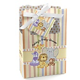 Zoo Crew - Personalized Baby Shower Favor Boxes