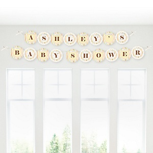 Zoo Crew - Personalized Baby Shower Garland Letter Banners