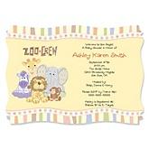 Zoo Crew - Zoo Animals Personalized Baby Shower Invitations