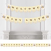 Zoo Crew - Personalized Baby Shower Bunting Banner