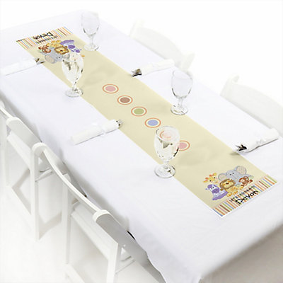 Zoo Baby Shower Table Runner