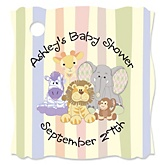 Zoo Crew - Personalized Baby Shower Tags - 20 Count
