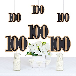 100th Milestone Birthday - Dashingly Aged to Perfection - Decorations DIY Party Essentials - Set of 20