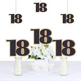 18th Milestone Birthday - Time To Adult - Decorations DIY Party Essentials - Set of 20