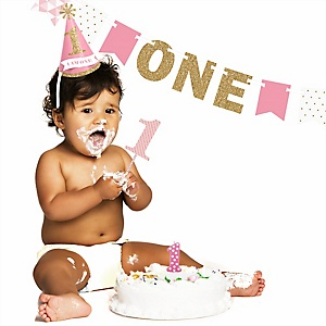 1st Birthday Girl - Smash Cake Kit - High Chair Decorations