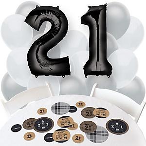 Finally 21 - 21st Birthday - Confetti and Balloon Birthday Party Decorations - Combo Kit