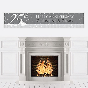 25th Anniversary - Personalized Wedding Anniversary Banner