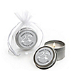 25th Anniversary - Personalized Wedding Anniversary Candle Tin Favors
