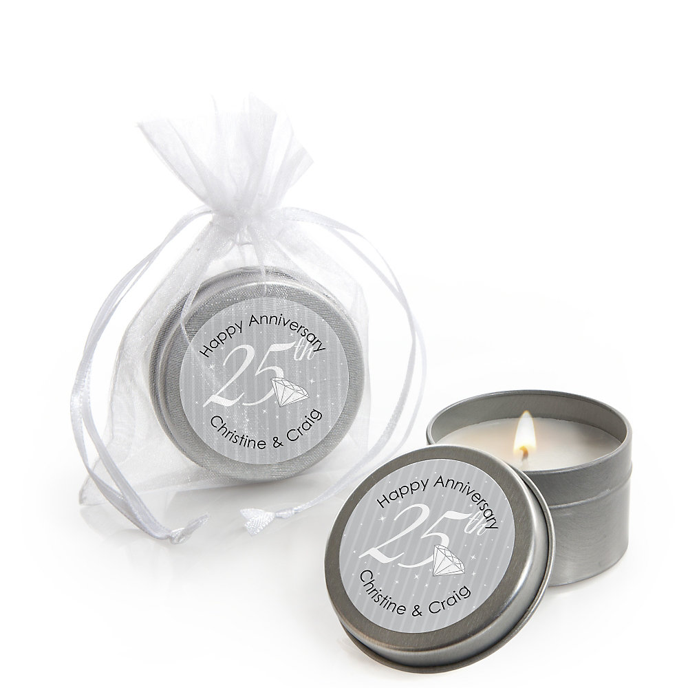 25th Anniversary - Personalized Wedding Anniversary Candle Tin ...