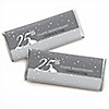 25th Anniversary - Personalized Wedding Anniversary Candy Bar Wrapper Favors