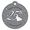25th Anniversary - Round Personalized Anniversary Tags - 20 ct