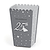 25th Anniversary - Personalized Anniversary Popcorn Favor Treat Boxes