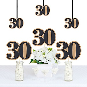 30th Milestone Birthday - Dashingly Aged to Perfection - Decorations DIY Party Essentials - Set of 20