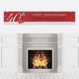 40th Anniversary - Personalized Wedding Anniversary Banner