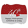 40th Anniversary - Personalized Wedding Anniversary Squiggle Sticker Labels - 16 ct