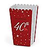 40th Anniversary - Personalized Anniversary Popcorn Favor Treat Boxes