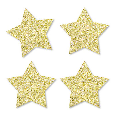 gold glitter star no mess real gold glitter cut outs memorial