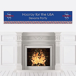 4th of July - Personalized Independence Day Party Banner