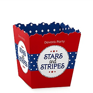 Red, White & Blue - Party Mini Favor Boxes - Veteran's Day & President's Day Party Ideas Party Ideas - Personalized Memorial Day Party Treat Candy Boxes - Set of 12