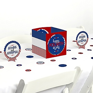4th of July - Independence Day Centerpiece and Table Decoration Kit