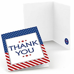4th of July - Independence Day Party Thank You Cards - 8 ct