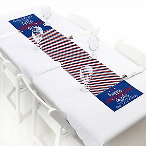 """4th of July - Personalized Petite Independence Day Party Paper Table Runner - 12"""" x 60"""""""