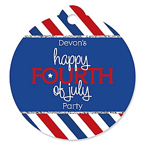 4th of July - Personalized Independence Day Party Favor Gift Tags - 20 ct