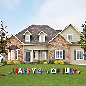 4th of July - Yard Sign Outdoor Lawn Decorations - Independence Day Party Yard Signs - Happy 4th Of July