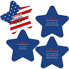 4th of July - Drink If Independence Day Party Game - Set of 24