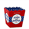 Stars and Stripes - Personalized Red, White & Blue 4th of July Party Candy Boxes - Veteran's Day & President's Day Party Ideas Party Ideas