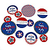 4th of July - Personalized Independence Day Party Giant Circle Confetti - Stars & Stripes Party Decorations - Large Confetti 27 Count