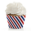 Stars and Stripes - Independence Day Party Cupcake Wrappers & Decorations - Veteran's Day & President's Day Party Ideas Party Ideas
