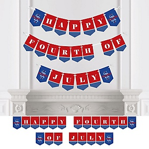 4th of July - Personalized Independence Day Party Bunting Banner & Decorations