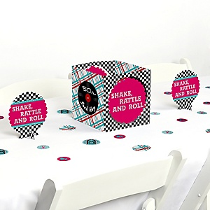 50's Sock Hop - 1950s Rock N Roll Party Centerpiece and Table Decoration Kit