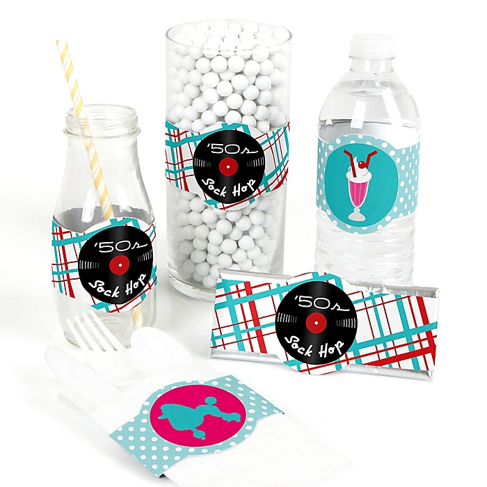 50's Sock Hop - DIY Party Supplies - 1950s Rock N Roll Party DIY Party Favors & Decorations - Set of 15