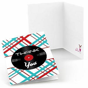 50's Sock Hop - Set of 8 1950s Rock N Roll Party Thank You Cards
