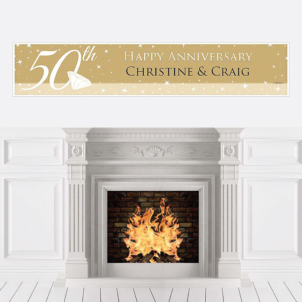 50th Anniversary - Personalized Wedding Anniversary Banner ...