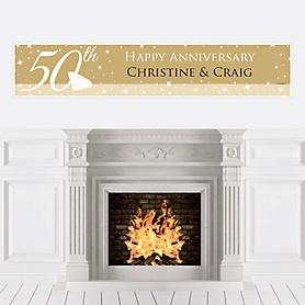 50th Anniversary - Personalized Wedding Anniversary Banner